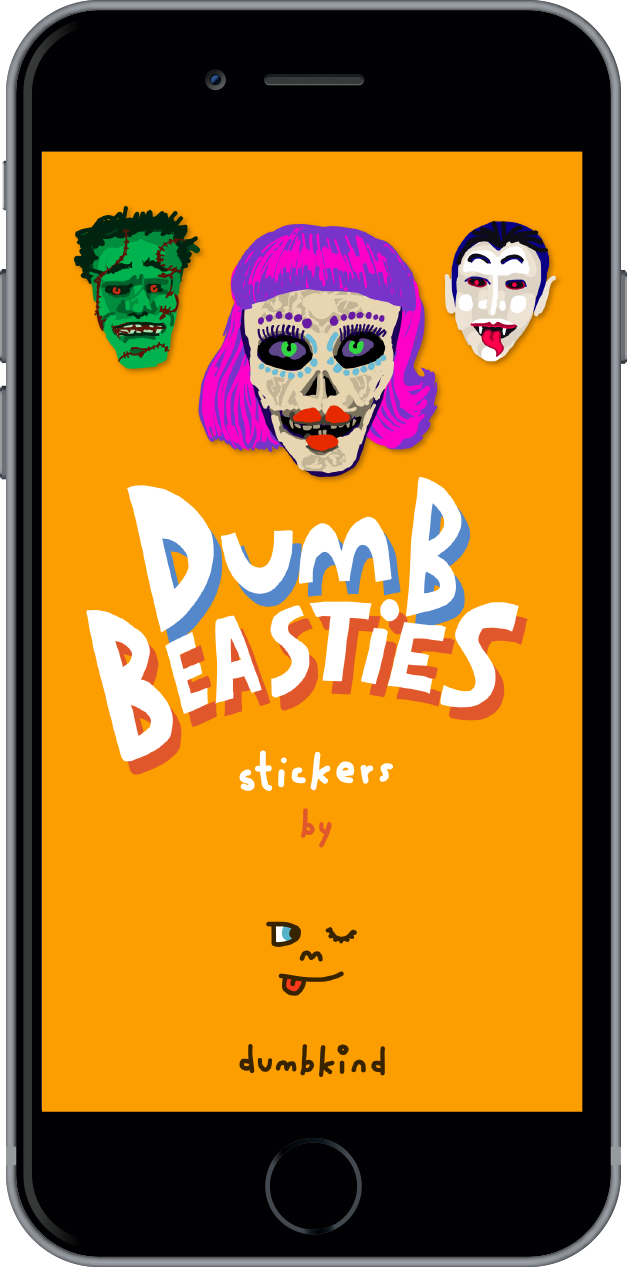 Dumb Beasties iOS 10 iSticker title page